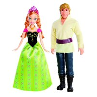 Mattel Disney Frozen Anna and Kristoff Doll, 2-Pack