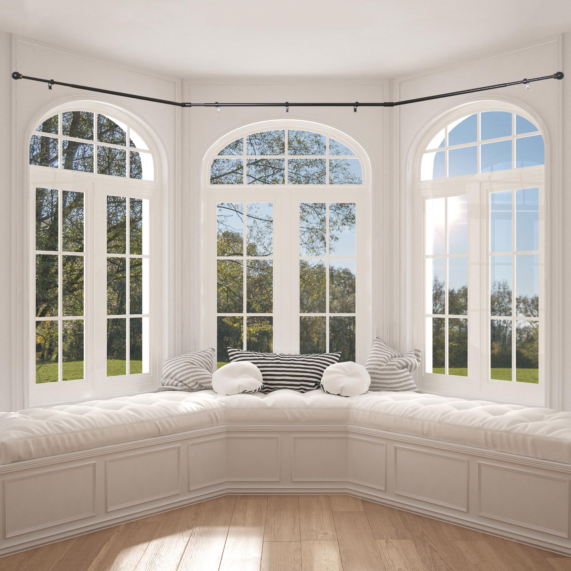 Better Homes Gardens Bay Window Adjustable Drapery Rod Set