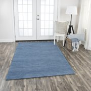 Rizzy Home FA173B Blue 5' x 8' Hand-Tufted Area Rug