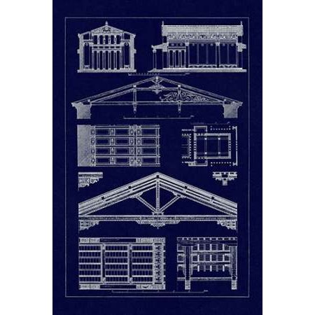 Internal Decoration of Roof Poster Print by J -