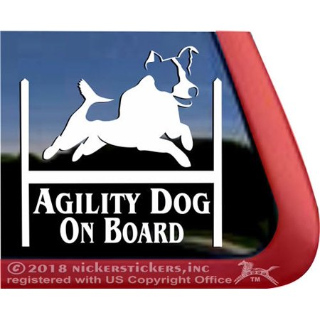 Agility Dog On Board | High Quality Vinyl Jack Russell Terrier Dog - Rydell High