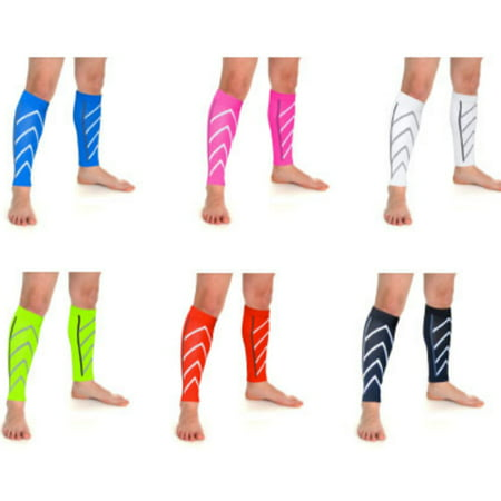4af375620f New Instant Shin Splint Support Pain Relief Calf Compression Sleeve for Men  & Women -Blue - Walmart.com