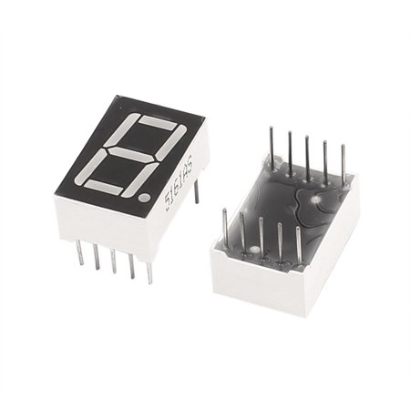 2 Pcs Common Cathode 10 Pin 1 Bit 7 Segment 0.56