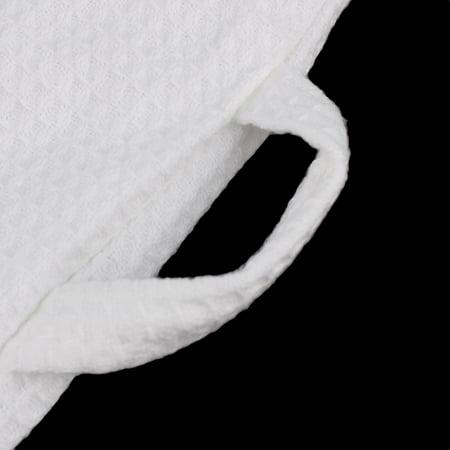 Coton Peignoir Nuisette kimono Femme Spa Ceinture Longueur Genou Robe blanc XL - image 4 de 7