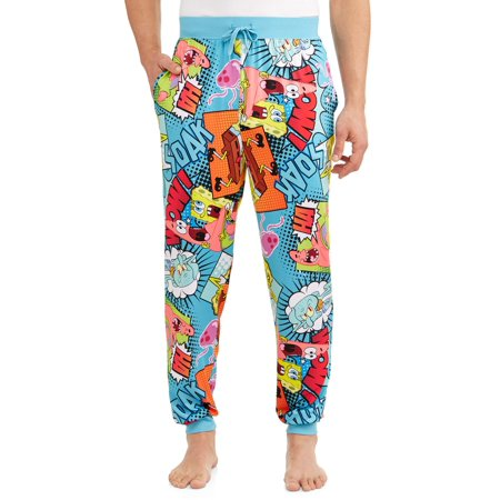 Nickelodeon Men's Spongebob Comic Pop Pajama Sleep Pant](Spongebob Robe)