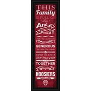 "Indiana Hoosiers Family Cheer Print 8""x24"""