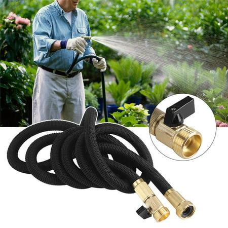 Brass Water Hose - 25FT Expanding Flexible Water Hose Garden Hose Extra Strength with 3/4