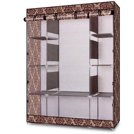 "Ktaxon Portable Wardrobe Home Clothes Rack Shelves Closet Storage Organizer 65"" Steel"
