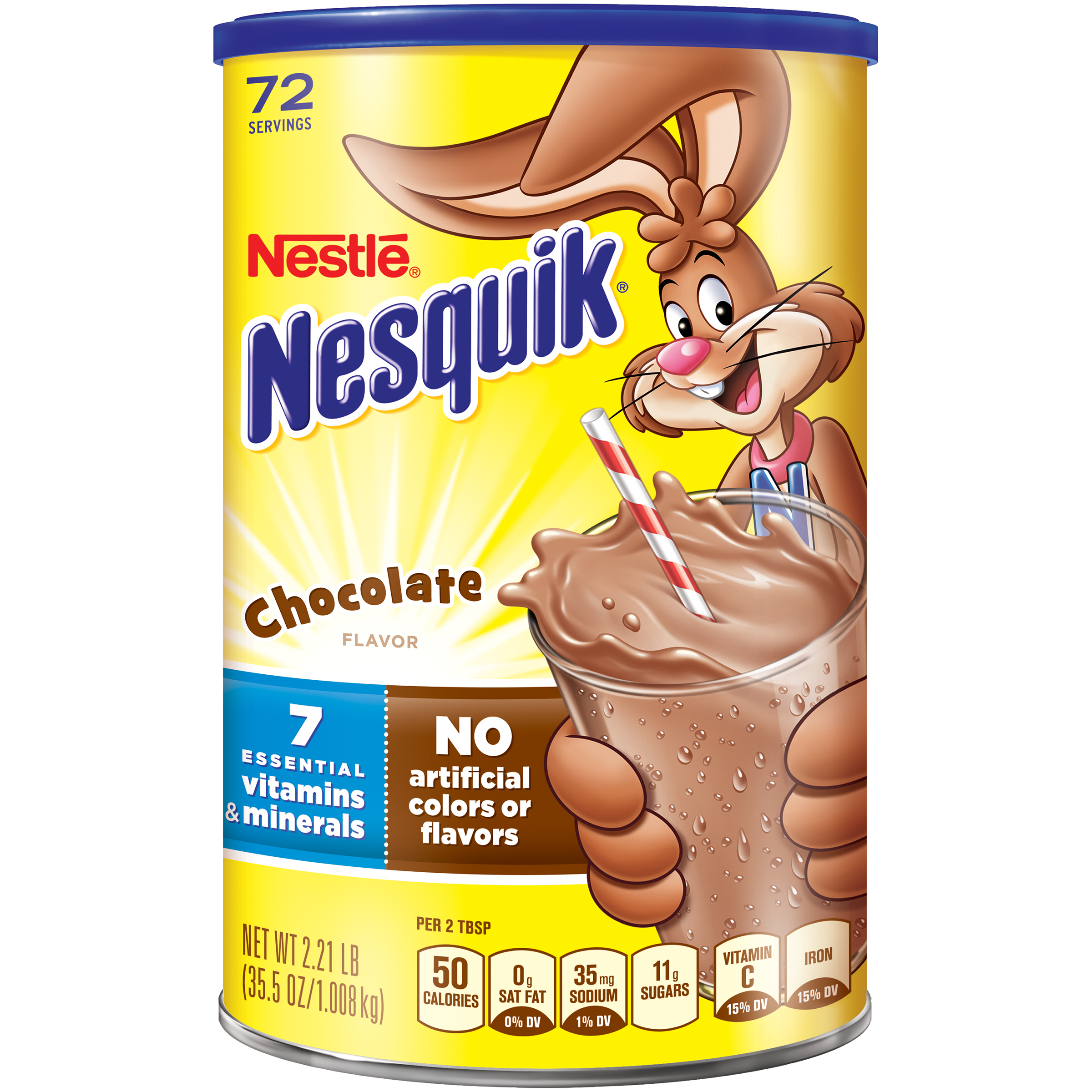 NESTLE�� NESQUIK�� Chocolate Flavored Powder 2.21 lb. Canister