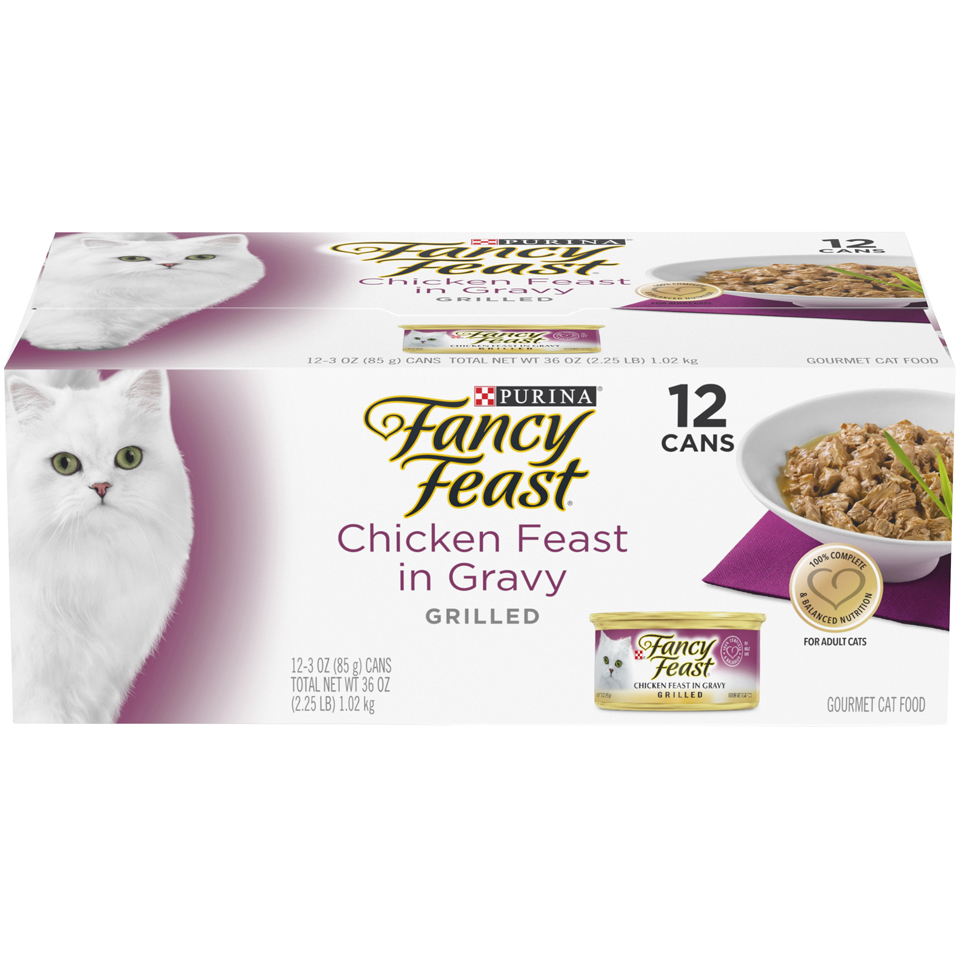 Purina Fancy Feast Grilled Chicken Feast in Gravy Gourmet Adult Wet Cat Food - (12) 3 oz. Cans