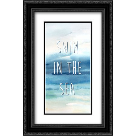 Live in the Sunshine Panel B 2x Matted 16x24 Black Ornate Framed Art Print by Coulter, Cynthia