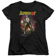 Bloodshot Vintage Bloodshot Womens Short Sleeve Shirt