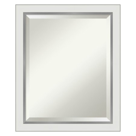 Amanti Art Eva Narrow Framed Bathroom Vanity Mirror ()
