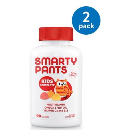 (2 Pack) SmartyPants Kids Complete Multivitamin Gummies, 90 Ct