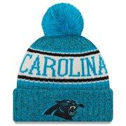 Carolina Panthers New Era 2018 NFL Sideline Cold Weather Official Sport Knit Hat - Blue - OSFA