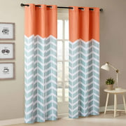Home Essence Apartment Elaine Chevron Printed Grommet Top Panel Pair