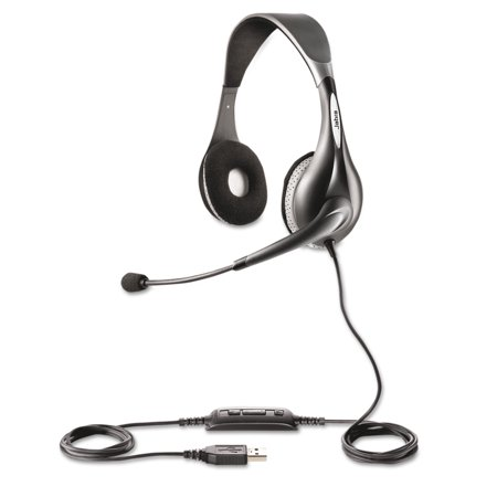 Jabra Uc Voice 150 Binaural Over The Head Corded Headset  Microsoft Certified