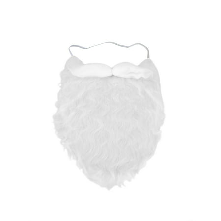 Fun Costume Beard White Santa Moustache Accessory Fake Pirate strap On gnome - Realistic Fake Beard