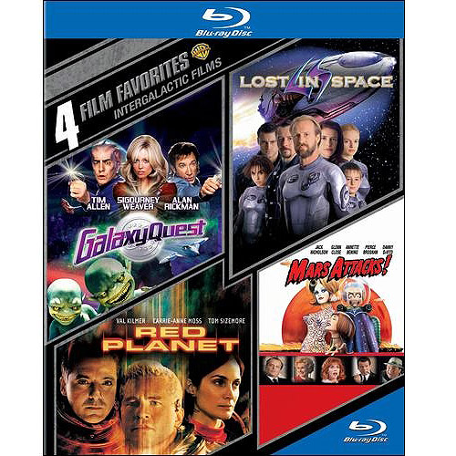 4 Film Favorites: Intergalactic Films - Lost In Space / Red Planet / Mars Attacks / Galaxy Quest (Blu-ray) (Widescreen)