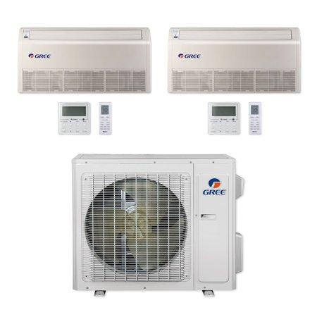 F3 Dual Unit - Gree MULTI24CFLR202 - 24,000 BTU Multi21+ Dual-Zone Floor/Ceiling Mini Split Air Conditioner Heat Pump 208-230V (9-18)