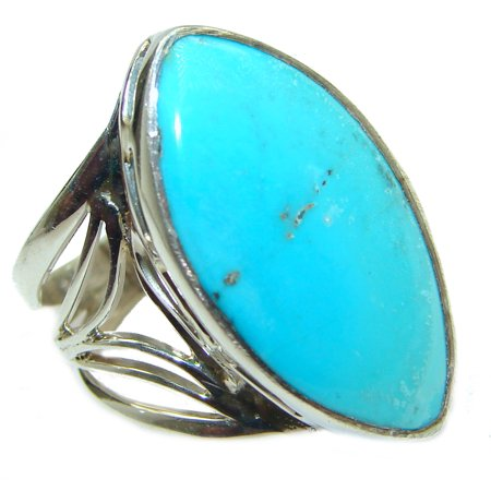 Genuine Sleeping Beauty  Turquoise   .925  Sterling Silver handcrafted Ring size  8 by SilverRush Style