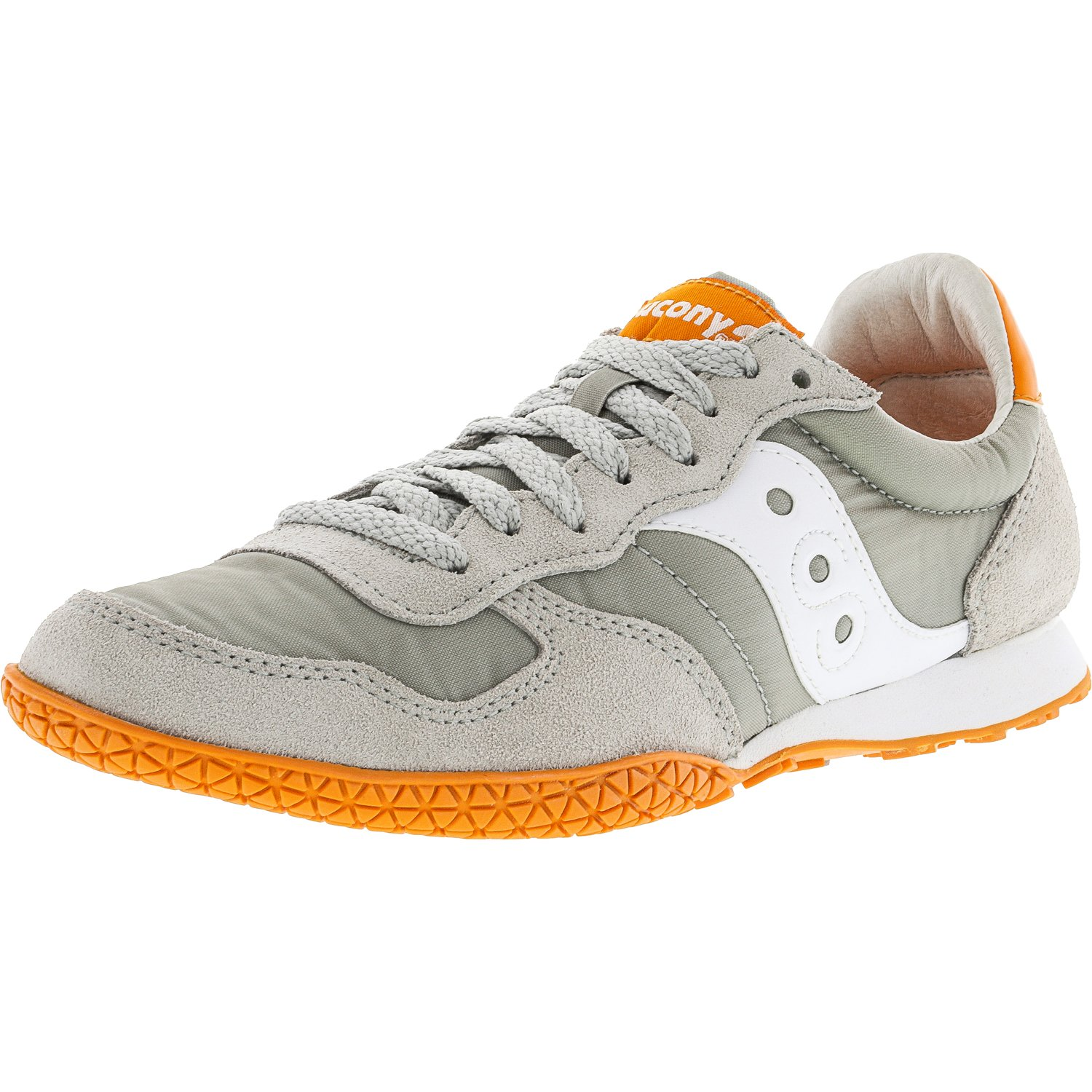 Saucony Men's Bullet Grey   Cream Ankle-High Fashion Sneaker 8M by Saucony