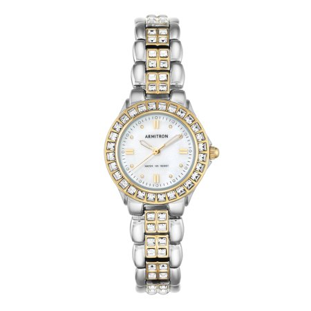 Womens Two-Tone Mother-of-Pearl Dress Watch