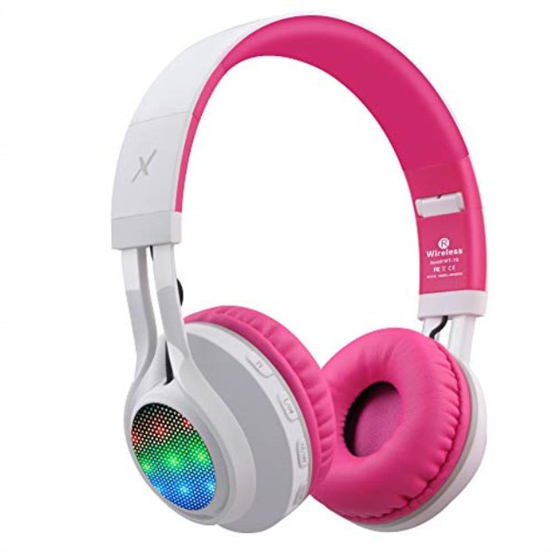 Riwbox Wt 7s Bluetooth Headphones Light Up Foldable Stero Wireless Headset With Microphone And Volume Control For Pc Cell Phones Tv Ipad Pink Walmart Com Walmart Com