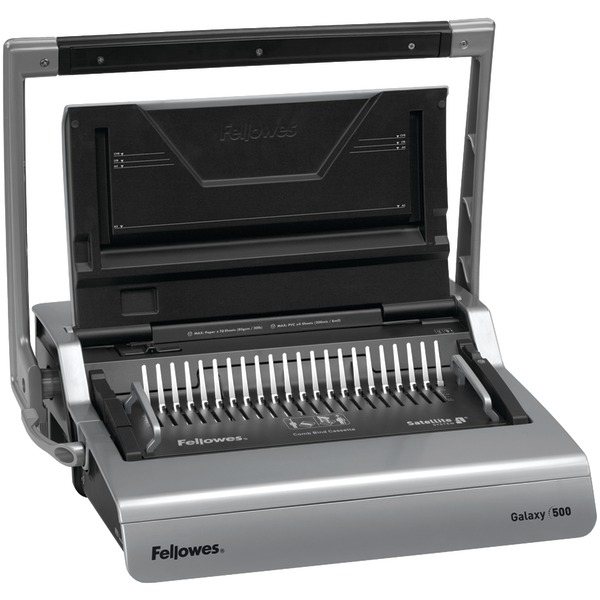 FELLOWES 5218201 Galaxy(TM) 500 Comb Binding Machine with Starter Kit by