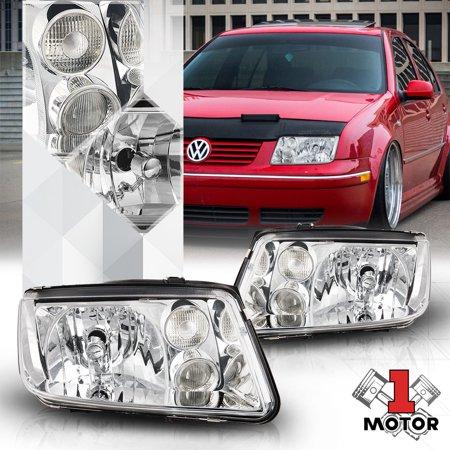 Chrome Housing Crystal Clear Lens Headlight Fog Lamp for 99-05 VW Jetta/Bora MK4 00 01 02 03 04