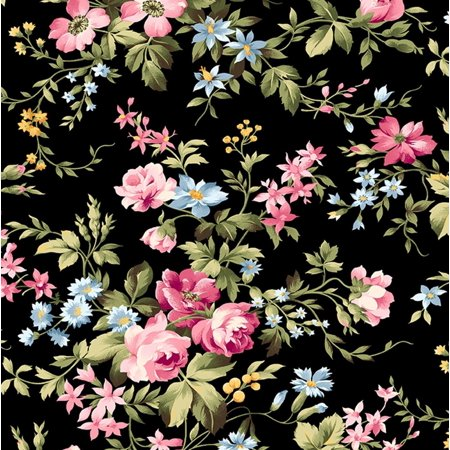 Wild Rose Flannel by Marti Michell Collection~Delicate Floral on Flannel Fabric by Maywood