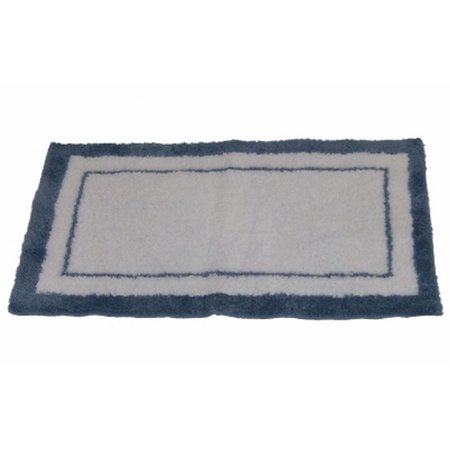 Fieldcrest Luxury Microfiber Throw Accent Rug 40x40 White Blue Impressive Fieldcrest Decorative Pillows