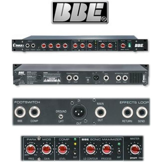 Bbe Sound BMAXT Groove Tube Bass Guitar Preamp With Full-Featured Sonic Maximizer by BBE SOUND INC.