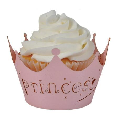 Paper Orchid Princess (cotton candy) Cupcake Wrappers Bubble Gum, 3-1/4