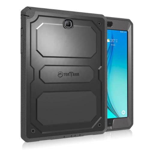 Samsung Galaxy Tab A 8.0 Tablet Case - Fintie Impact Resistant Bumper Cover W/ Built-in Screen Protector, Black