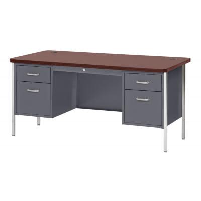 600 Series Steel Teacher Desk METDQ6030CMH Walmart