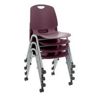 Academic Mobile Stack Chair -Eggplant