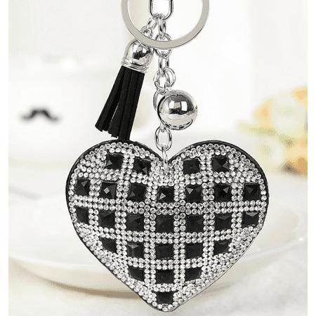 Keys To The Kingdom Heart Purse Charm Keychain (Gold Heart Keychain)