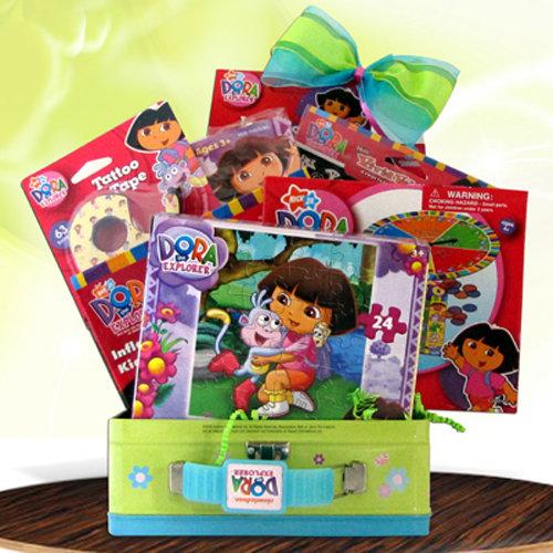 Gift Basket 4 Kids GBDO2500 Dora The Explorer Fun Pack