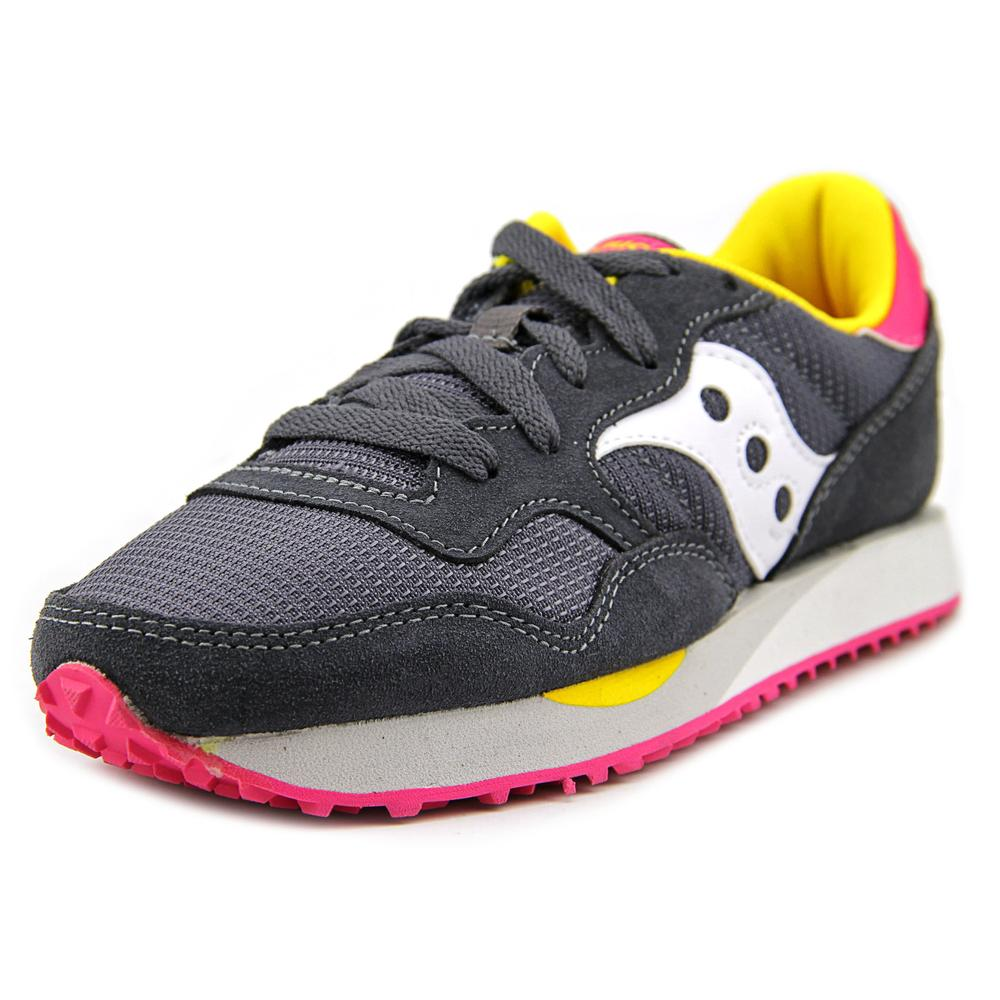 Saucony Dxn Trainer Women  Round Toe Canvas Gray Sneakers