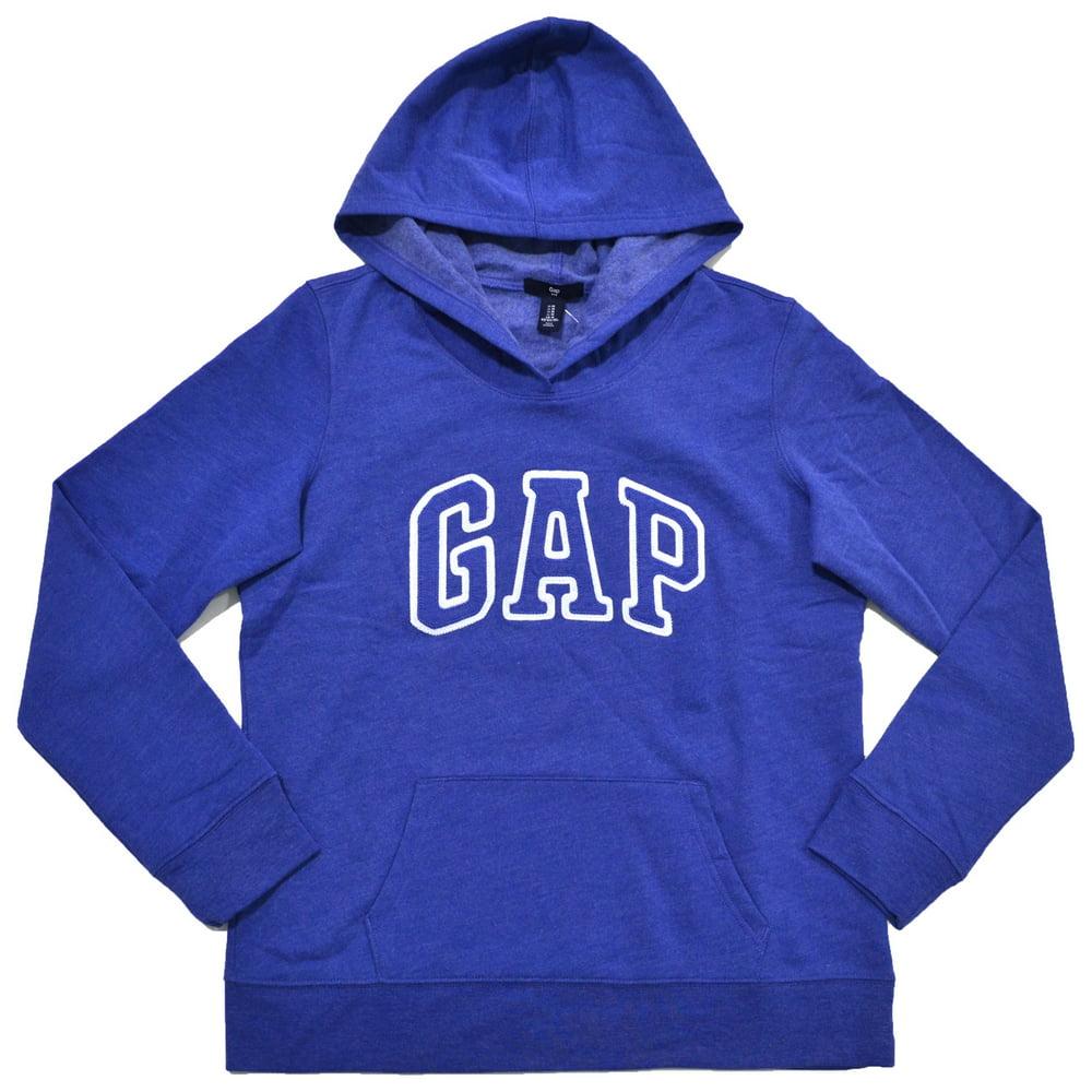 Gap Womens Fleece Arch Logo Pullover Hoodie (S, Periwinkle)
