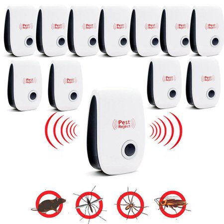 12 Pack Ultrasonic Pest Repeller, Spider Repellent Indoor Best Electronic Plug Pest Reject Control Mosquito Cockroach Mouse Killer Repeller to Repel Insects Mice Spider Ant Roaches Bugs (Best Mosquito Repellent Reviews)