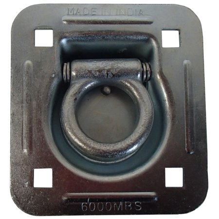 """6000 lb. Breaking Strength Flatbed Truck Car Trailer 1-1/2"""" ID Recessed D-Ring"""