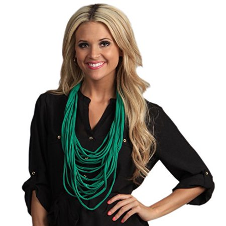 - StylesIlove Trendy Jersey Rope Womens Scarf Necklace (Emerald)