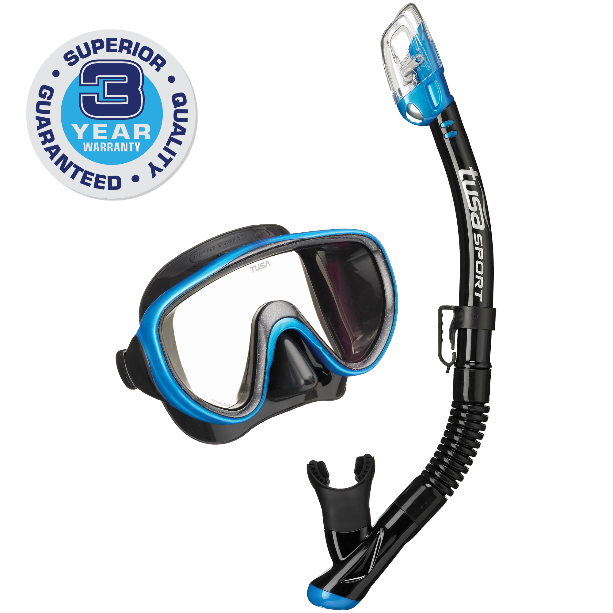 TUSA Sport Adult Serene Mask and Dry Snorkel Combo