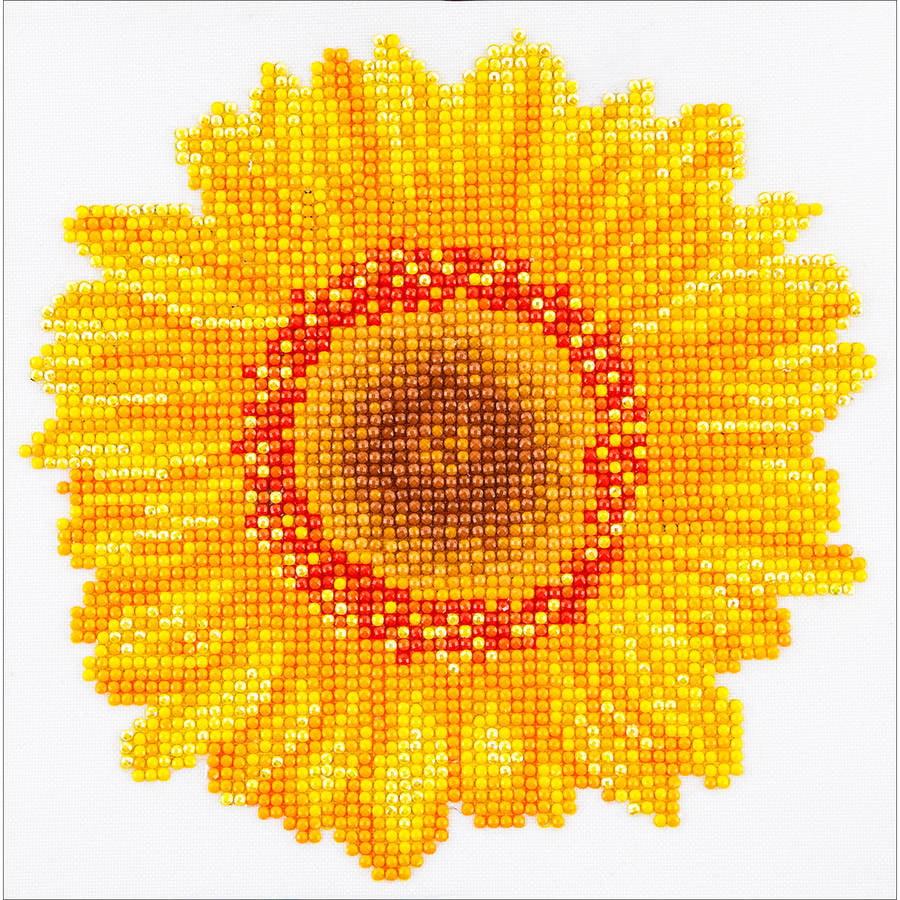 "Diamond Dotz Diamond Embroidery Facet Art Kit, 9.75"" x 9.75"", Happy Day Sunflower"