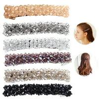 6PCS Women Hair Barrette Rhinestone Hair Clip Decorative Hair Side Clip Teen Girls Hair Pins