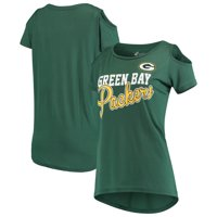 Green Bay Packers G-III 4Her by Carl Banks Women's Make the Cut Scoop Neck Cold Shoulder T-Shirt - Green