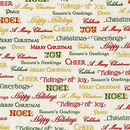 Winter's Grandeur 5~Words in Holiday~ Cotton Fabric by Robert Kaufman