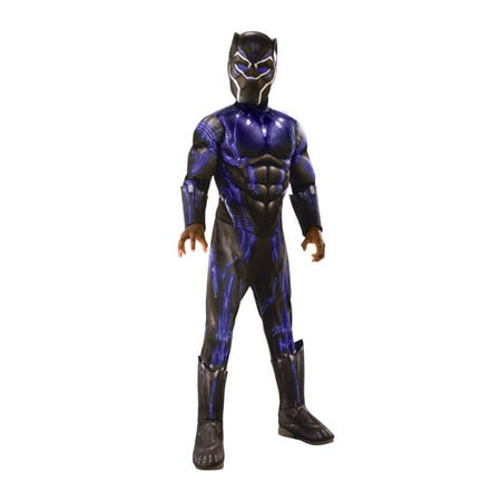 Rubies Costume Co Deluxe Black Panther Child Halloween Costume (Office Themed Halloween Costumes)